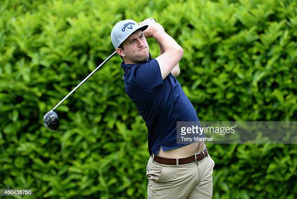 Jack Wallace of Thurlestone Golf Club plays his first shot on the 1st Tee during the Powerade PGA Assistants' Championship Final at The Covenrty Golf...