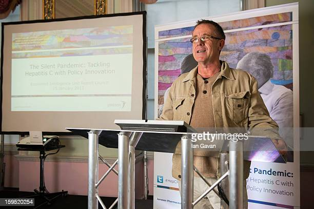 Jack Wallace speaks during the Janssen supported Economist Intelligence Unit report into the global burden of Hepatitis C at the Royal Society of...