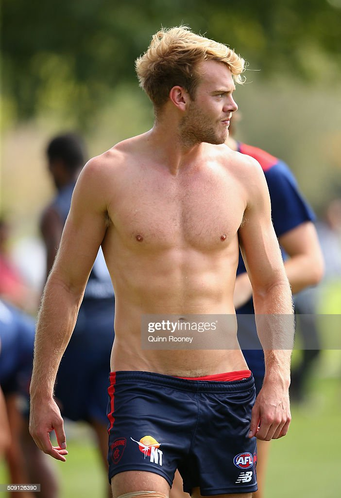 Jack Watts of the Demons walks around the boundary during a Melbourne Demons AFL pre-season training session at Gosch's Paddock on February 9, 2016 in Melbourne, Australia.
