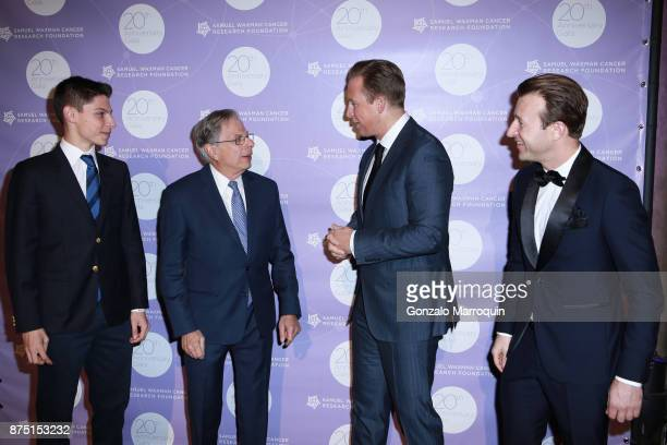 Jack Waxman Dr Samuel Waxman Chris Wragge and Lucas Hunt during the Dr Samuel Waxman Cancer Research Foundation's 20th Anniversary Gala COLLABORATING...
