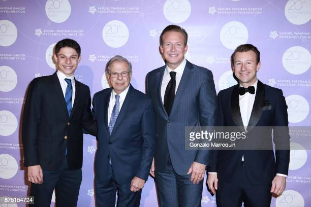 Jack Waxman Dr Samuel Waxman Chris Wragge and Lucas Hunt during the Samuel Waxman Cancer Research Foundation's 20th Anniversary Gala COLLABORATING...