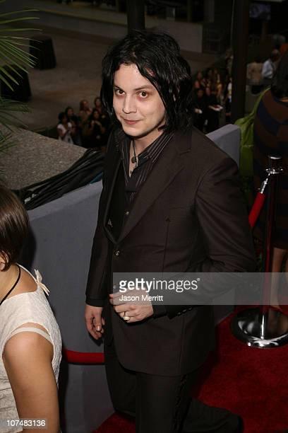 Jack White during 2006 MTV Video Music Awards MTV News Red Carpet at Radio City Music Hall in New York City New York United States