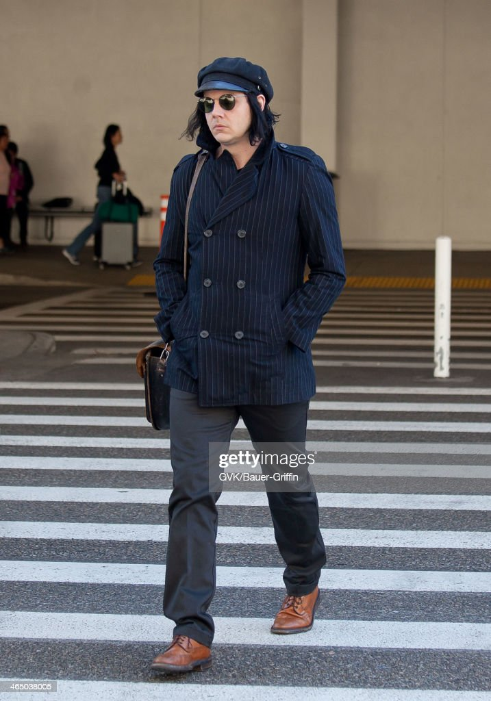 <a gi-track='captionPersonalityLinkClicked' href=/galleries/search?phrase=Jack+White+-+American+Musician+and+Producer&family=editorial&specificpeople=213141 ng-click='$event.stopPropagation()'>Jack White</a> is seen at LAX airport on January 25, 2014 in Los Angeles, California.