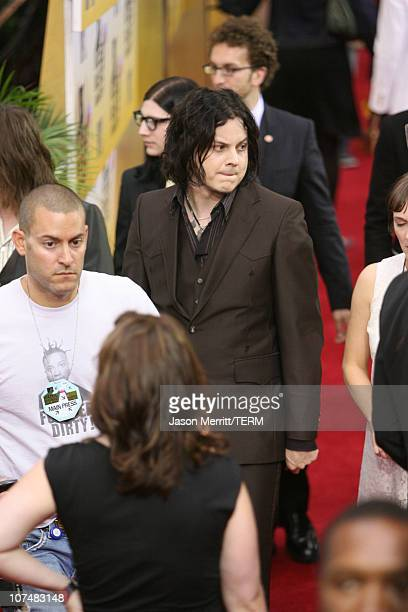 Jack White of The Raconteurs during 2006 MTV Video Music Awards MTV News Red Carpet at Radio City Music Hall in New York City New York United States