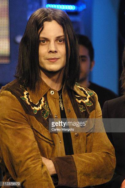 Jack White of The Raconteurs during The Raconteurs Avenged Sevenfold and Bo Bice Visit Fuse's 'Daily Download' April 4 2006 at Fuse Studios in New...