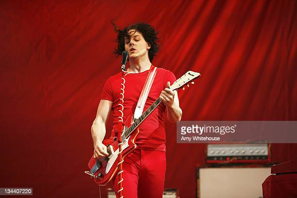 Jack White of The White Stripes during Bonnaroo 2007 Day 3 The White Stripes at Which stage in Manchester Tennessee United States