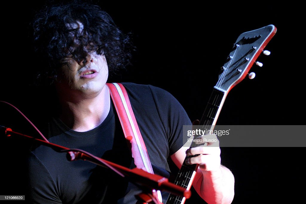 Jack White of The White Stripes during The White Stripes in Concert at Tenda Strisce Theater in Rome - June 6, 2007 at Tenda Strisce Theater in Rome, Italy.