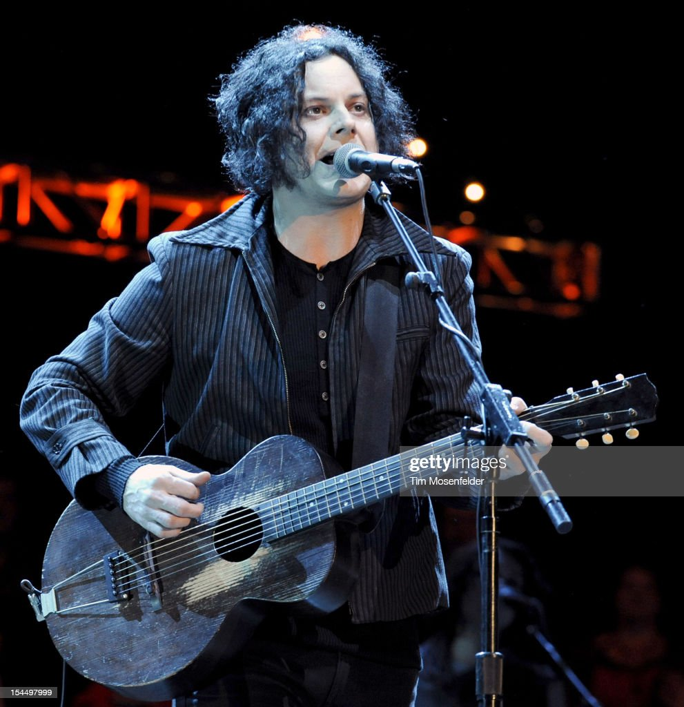 Jack White performs as part of the 26th Annual Bridge School Benefit at Shoreline Amphitheatre on October 20, 2012 in Mountain View, California.