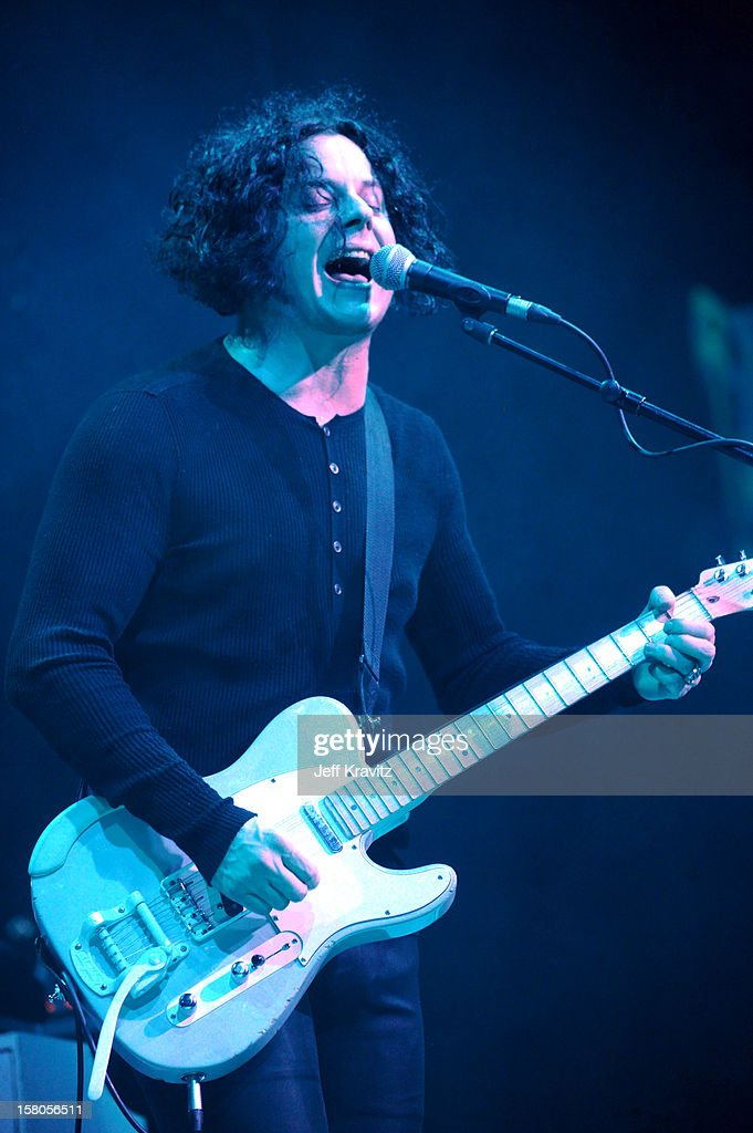Jack White performs at the KROQ Acoustic Xmas show at Gibson Amphitheatre on December 9, 2012 in Universal City, California.