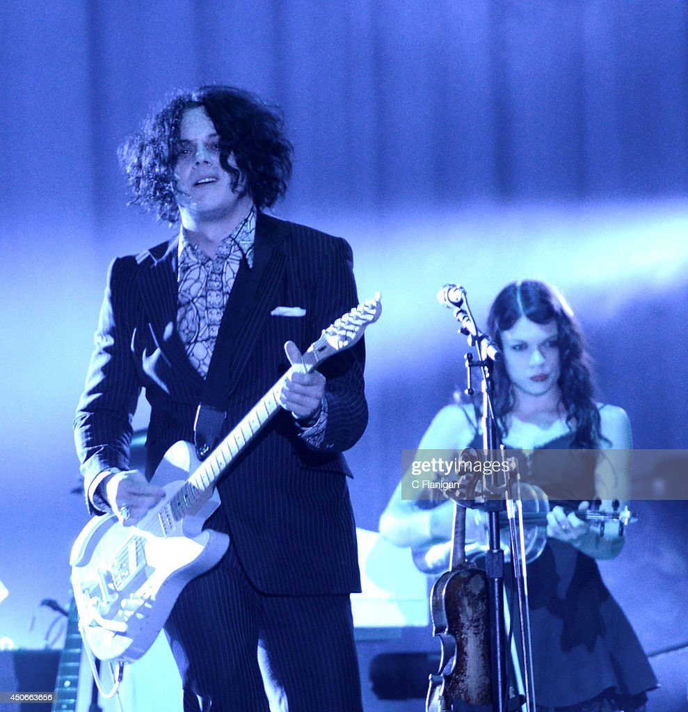 Jack White performs during the 2014 Bonnaroo Music & Arts Festival on June 14, 2014 in Manchester, Tennessee.