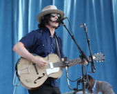 Jack White performs during the 2014 Newport Folk Festival at Fort Adams State Park on July 26 2014 in Newport Rhode Island
