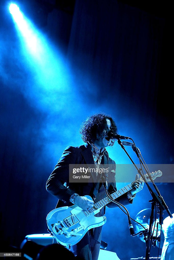 Jack White performs in concert during the 2014 Bonnaroo Music & Arts Festival on June 14, 2014 in Manchester, Tennessee.