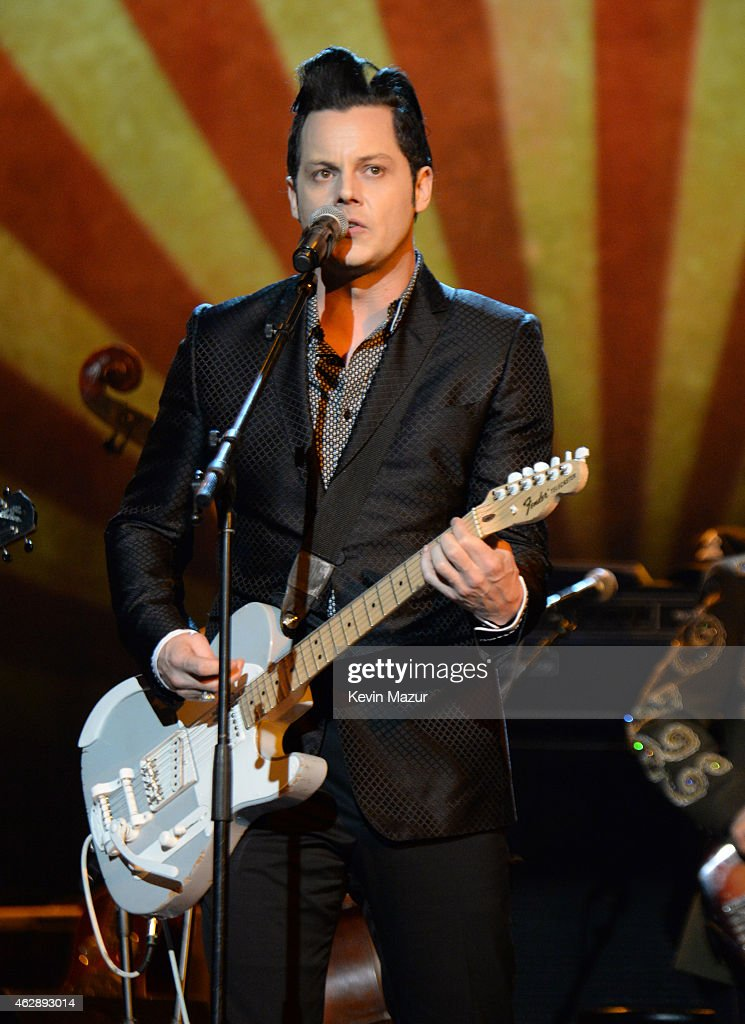 Jack White performs onstage at the 25th anniversary MusiCares 2015 Person Of The Year Gala honoring Bob Dylan at the Los Angeles Convention Center on February 6, 2015 in Los Angeles, California. The annual benefit raises critical funds for MusiCares' Emergency Financial Assistance and Addiction Recovery programs. For more information visit musicares.org.