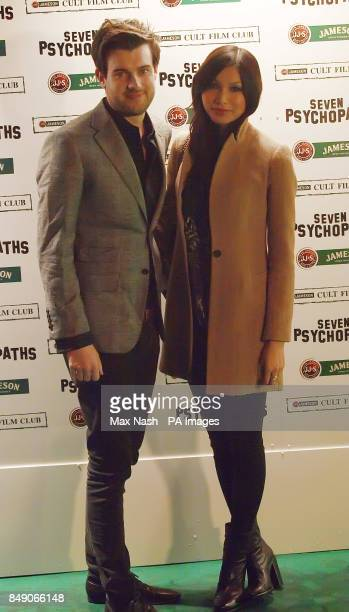 Jack Whitehall and Gemma Chan arriving at the Gala Premiere of Seven Psychopaths hosted by the Jameson Cult Film Club at Oval Space in Bethnal Green...
