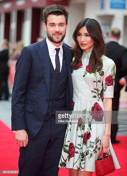 Jack Whitehall and Gemma Chan attend the World Premiere of 'The Bad Education Movie' at Vue West End on August 20 2015 in London England