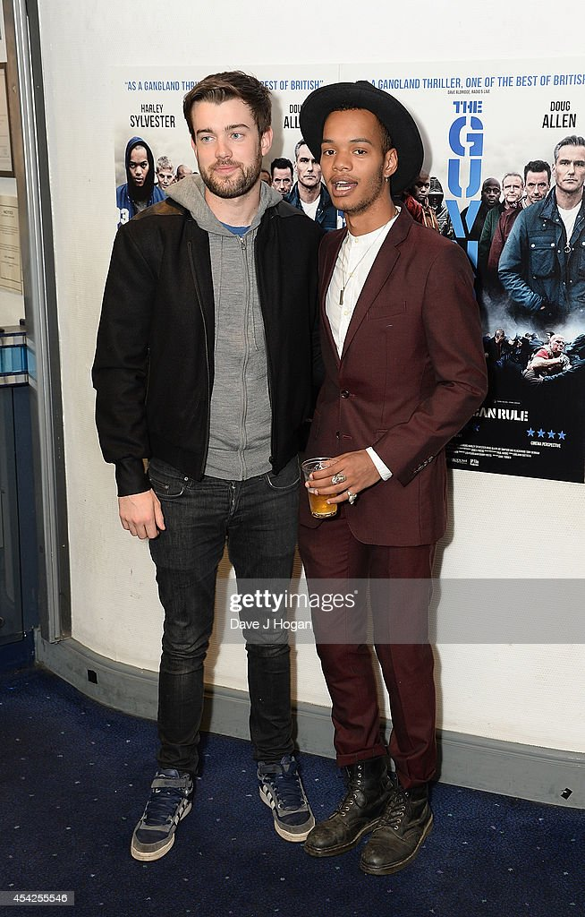 <a gi-track='captionPersonalityLinkClicked' href=/galleries/search?phrase=Jack+Whitehall&family=editorial&specificpeople=5726669 ng-click='$event.stopPropagation()'>Jack Whitehall</a> and Harley Sylvester attend the UK Premiere of 'The Guvnors' at Odeon Covent Garden on August 27, 2014 in London, England.