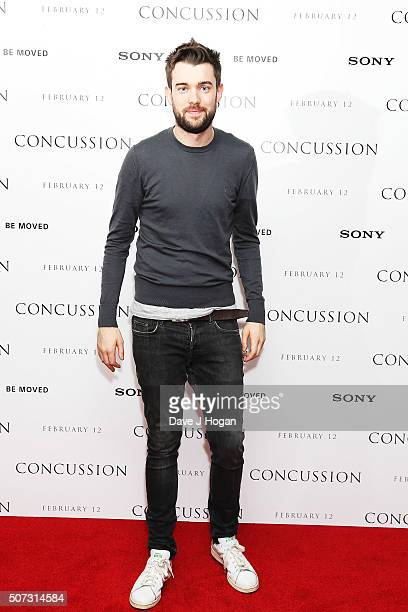 Jack Whitehall attends a special screening of 'Concussion' at Ham Yard Hotel on January 28 2016 in London England