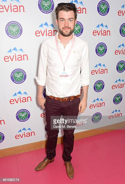 Jack Whitehall attends the evian Live Young suite on the opening day of Wimbledon at the All England Lawn Tennis and Croquet Club on June 23 2014 in...