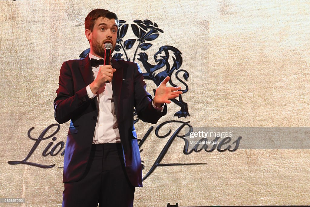 <a gi-track='captionPersonalityLinkClicked' href=/galleries/search?phrase=Jack+Whitehall&family=editorial&specificpeople=5726669 ng-click='$event.stopPropagation()'>Jack Whitehall</a> performs during the England Footballers Foundation charity event at Sopwell House on May 29, 2016 in St Albans, England.