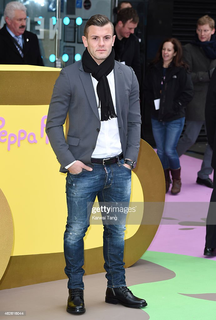 <a gi-track='captionPersonalityLinkClicked' href=/galleries/search?phrase=Jack+Wilshere&family=editorial&specificpeople=5446655 ng-click='$event.stopPropagation()'>Jack Wilshere</a> attends the UK premiere of 'Peppa Pig: The Golden Boots' at Odeon Leicester Square on February 1, 2015 in London, England.