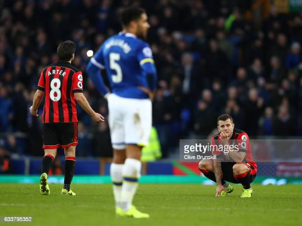 Jack Wilshere of AFC Bournemouth is dejected during the Premier League match between Everton and AFC Bournemouth at Goodison Park on February 4 2017...