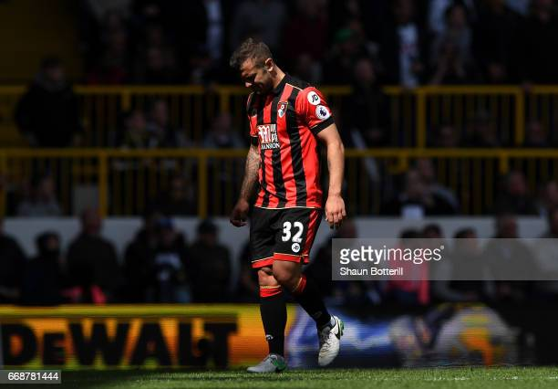 Jack Wilshere of AFC Bournemouth walks off injured and is later subbed during the Premier League match between Tottenham Hotspur and AFC Bournemouth...
