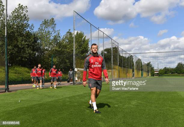 Jack Wilshere of Arsenal before a training session at London Colney on August 18 2017 in St Albans England