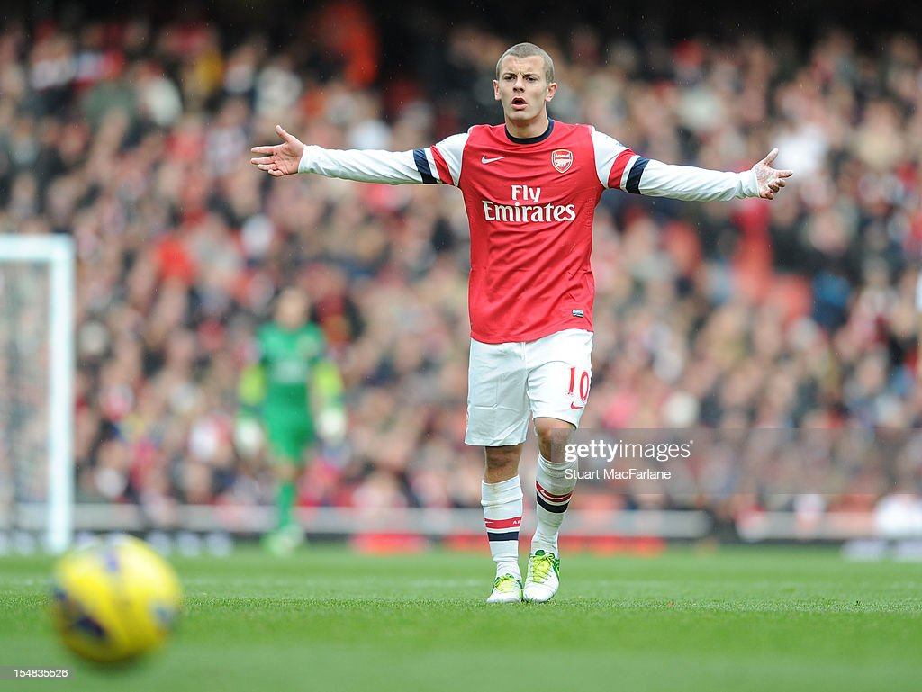 <a gi-track='captionPersonalityLinkClicked' href=/galleries/search?phrase=Jack+Wilshere&family=editorial&specificpeople=5446655 ng-click='$event.stopPropagation()'>Jack Wilshere</a> of Arsenal competes during the Barclays Premier League match between Arsenal and Queens Park Rangers, at Emirates Stadium on October 27, 2012 in London, England.