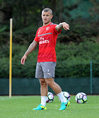 Jack Wilshere of Arsenal during a 1st team training session at London Colney on July 23 2016 in St Albans England