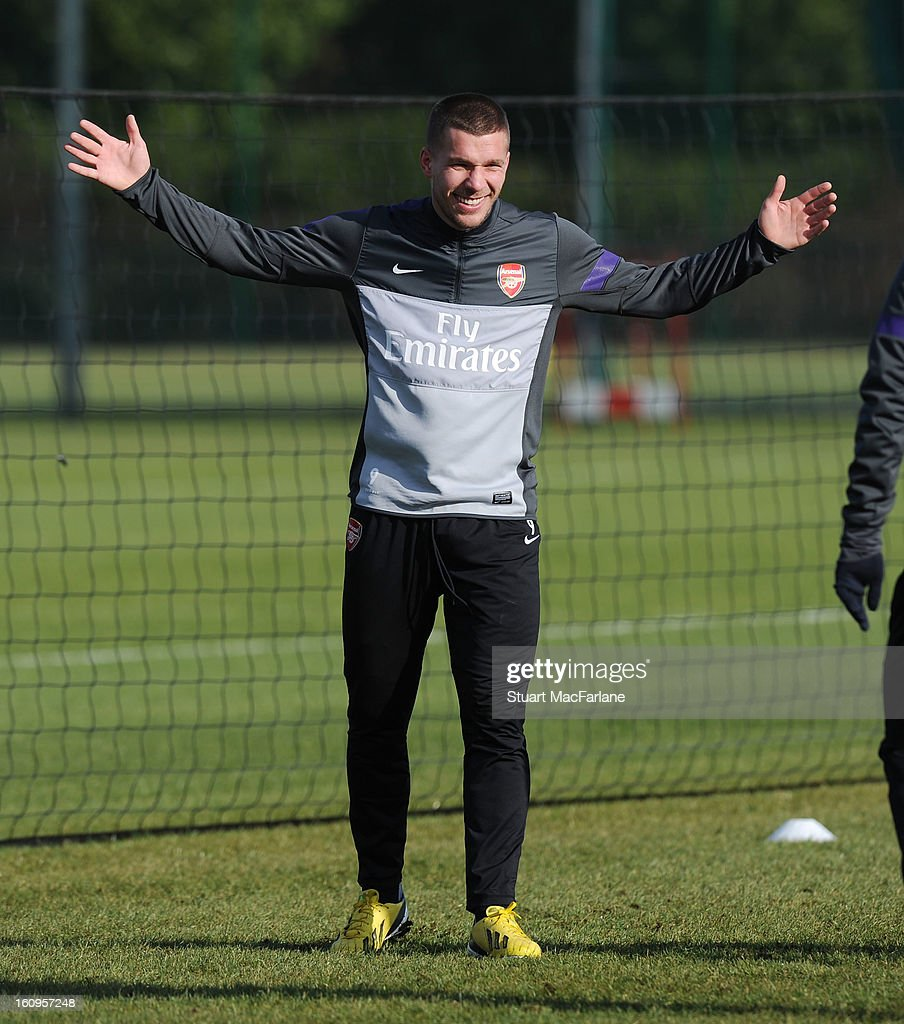 Jack Wilshere of Arsenal during a training session at London Colney on February 08, 2013 in St Albans, England.