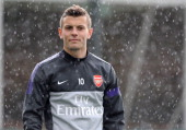 Jack Wilshere of Arsenal during a training session at London Colney on April 12 2013 in St Albans England
