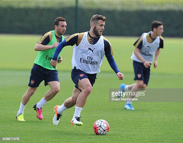 Jack Wilshere of Arsenal during a training session at London Colney on May 7 2016 in St Albans England