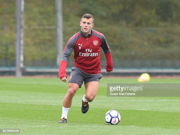 Jack Wilshere of Arsenal during a training session at London Colney on July 26 2017 in St Albans England