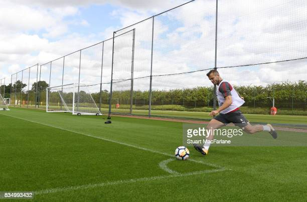 Jack Wilshere of Arsenal during a training session at London Colney on August 18 2017 in St Albans England