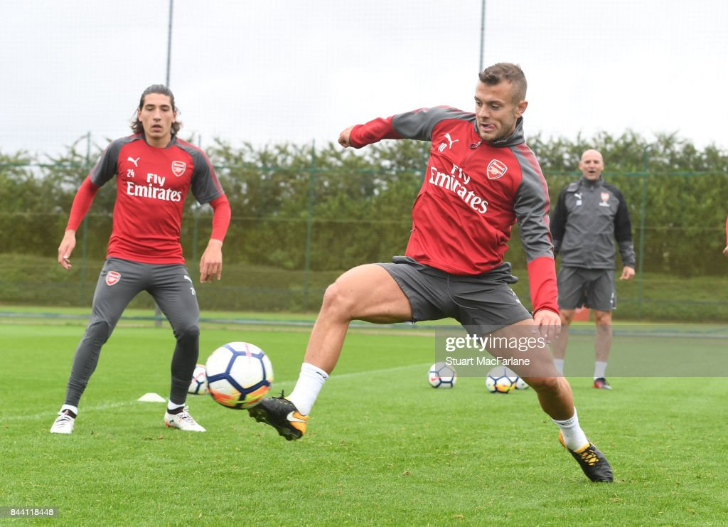 Jack Wilshere of Arsenal during a training session at London Colney on September 8, 2017 in St Albans, England.