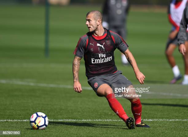 Jack Wilshere of Arsenal during a training session at London Colney on September 24 2017 in St Albans England