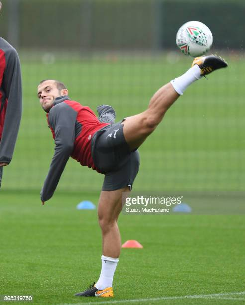 Jack Wilshere of Arsenal during a training session at London Colney on October 23 2017 in St Albans England
