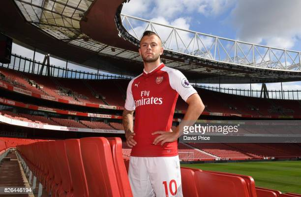 Jack Wilshere of Arsenal during the Arsenal 1st team photocall at Emirates Stadium on August 3 2017 in London England
