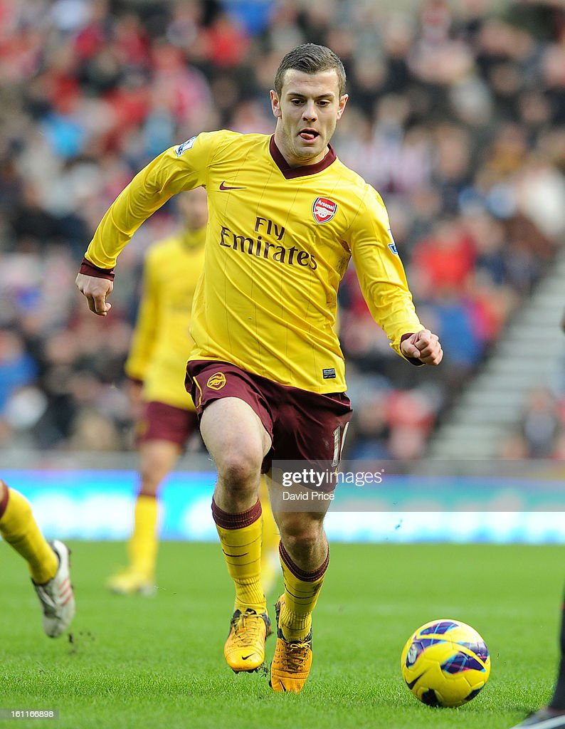 <a gi-track='captionPersonalityLinkClicked' href=/galleries/search?phrase=Jack+Wilshere&family=editorial&specificpeople=5446655 ng-click='$event.stopPropagation()'>Jack Wilshere</a> of Arsenal during the Barclays Premier League match between Sunderland and Arsenal at Stadium of Light on February 09, 2013 in Sunderland, England.