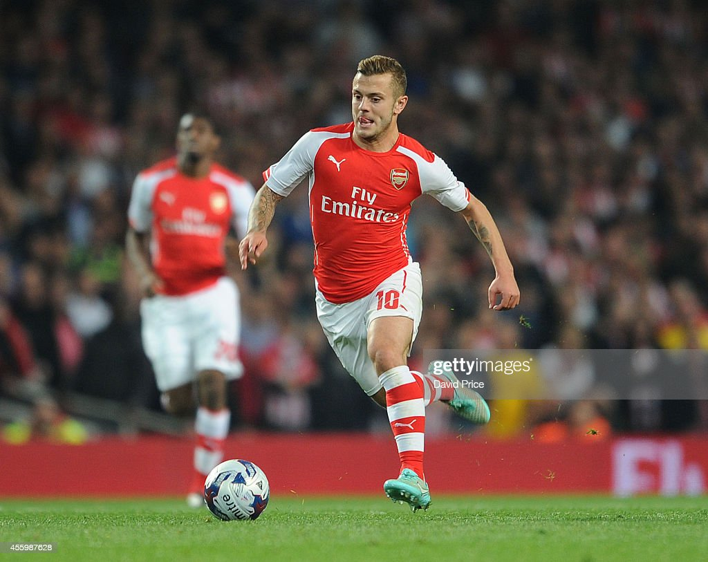 Jack Wilshere of Arsenal during the Capital One Cup 3rd match between Arsenal and Southampton at Emirates Stadium on September 23, 2014 in London, England.