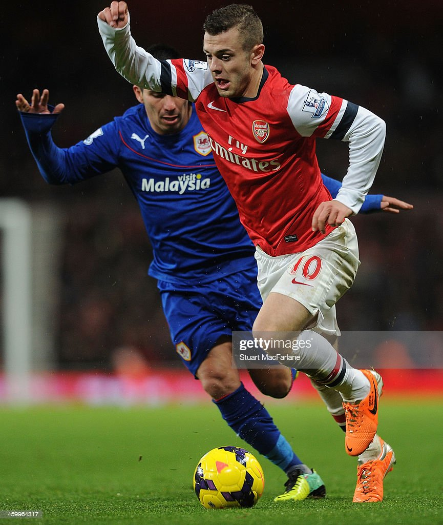 <a gi-track='captionPersonalityLinkClicked' href=/galleries/search?phrase=Jack+Wilshere&family=editorial&specificpeople=5446655 ng-click='$event.stopPropagation()'>Jack Wilshere</a> of Arsenal during the match at Emirates Stadium on January 1, 2014 in London, England.