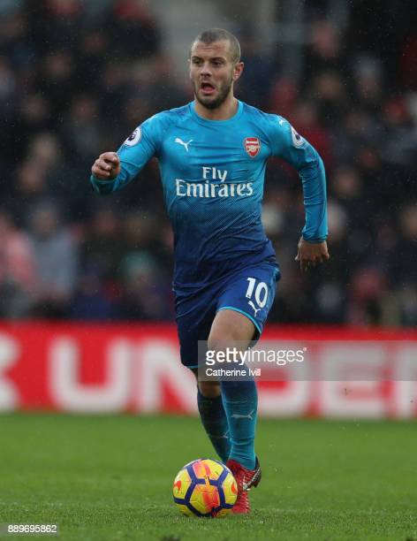 Jack Wilshere of Arsenal during the Premier League match between Southampton and Arsenal at St Mary's Stadium on December 10 2017 in Southampton...