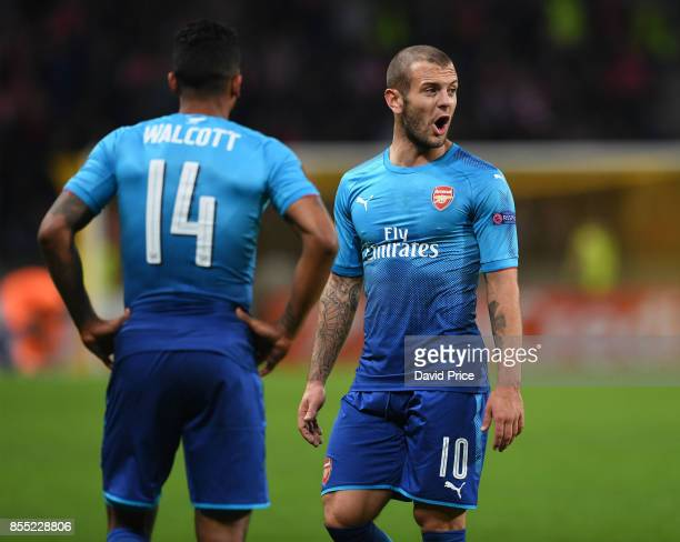 Jack Wilshere of Arsenal during the UEFA Europa League group H match between BATE Borisov and Arsenal FC at BorisovArena on September 28 2017 in...
