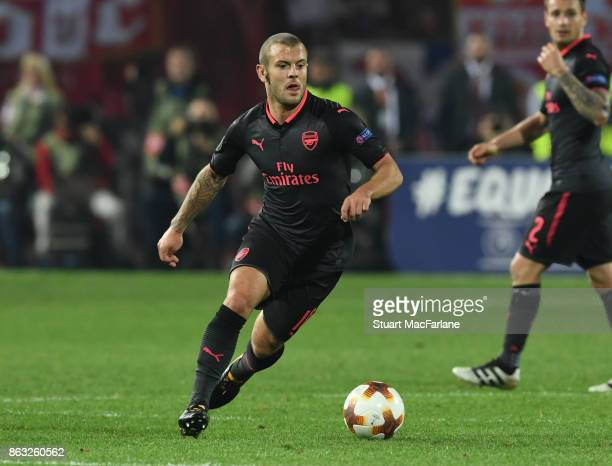 Jack Wilshere of Arsenal during the UEFA Europa League group H match between Crvena Zvezda and Arsenal FC at Rajko Mitic Stadium on October 19 2017...