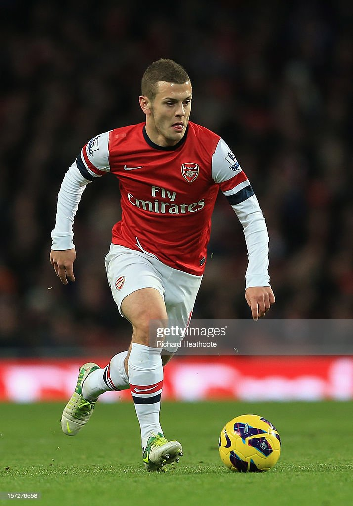 Jack Wilshere of Arsenal in action during the Barclays Premier League match between Arsenal and Swansea City at the Emirates Stadium on December 1, 2012 in London, England.