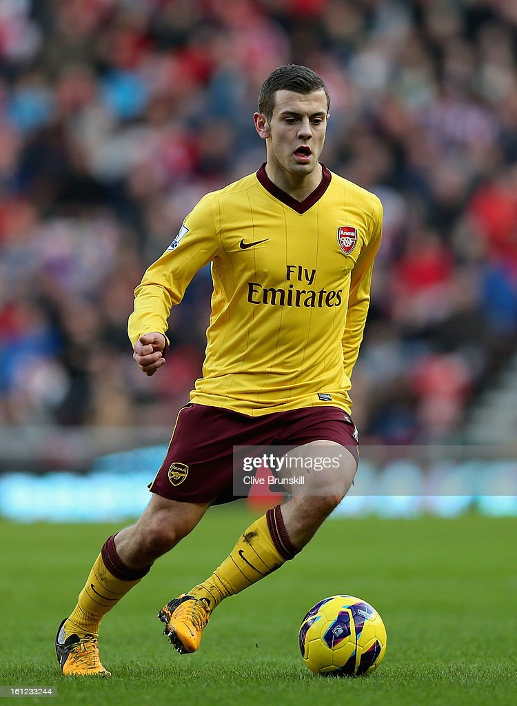 Jack Wilshere of Arsenal in action during the Barclays Premier League match between Sunderland and Arsenal at the Stadium of Light on February 9, 2013 in Sunderland, England.