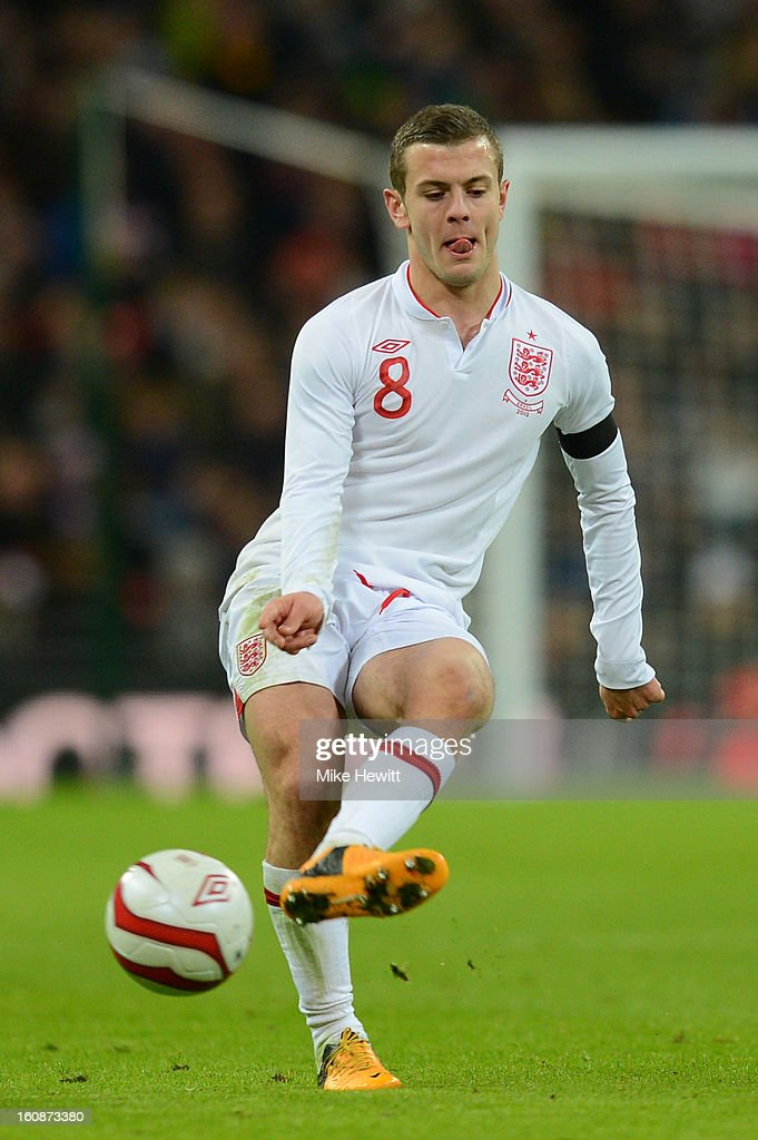 Jack Wilshere of England in action during the International friendly between England and Brazil at Wembley Stadium on February 6, 2013 in London, England.