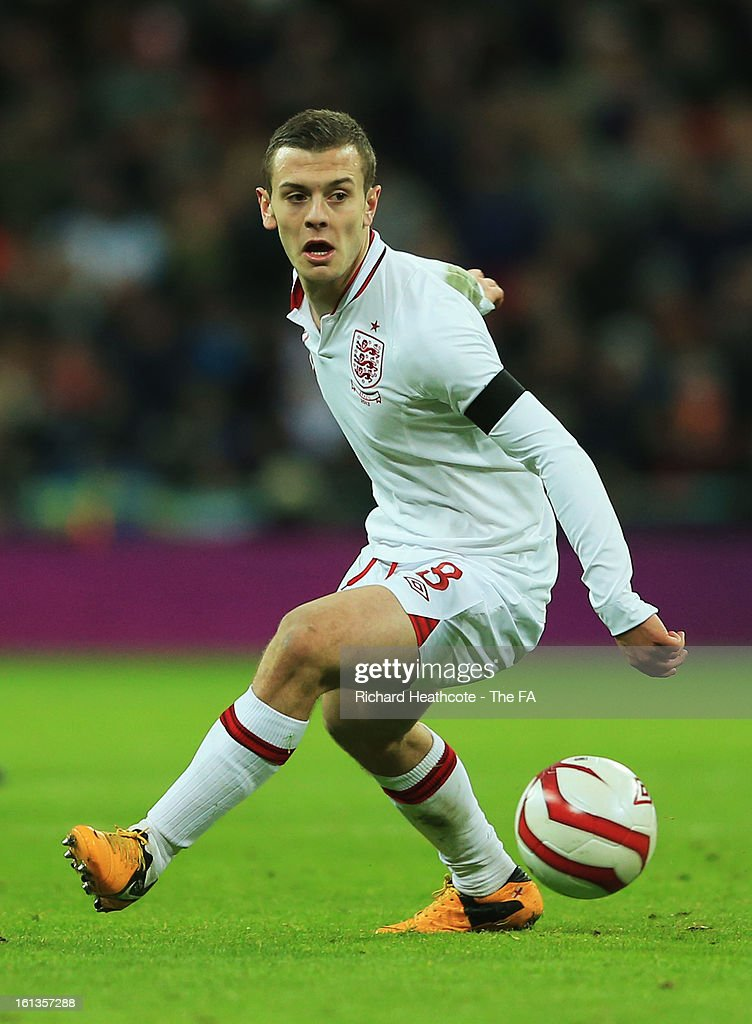 Jack Wilshere of England in action during the International Friendly match between England and Brazil at Wembley Stadium on February 6, 2013 in London, England.