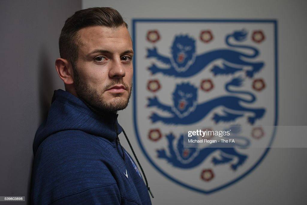 Jack Wilshere poses after the EURO 2016 UEFA England training session at Stade du Bourgognes on June 12 2016 in Chantilly France