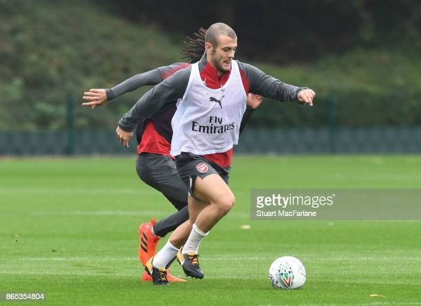 Jack Wishere of Arsenal during a training session at London Colney on October 23 2017 in St Albans England